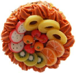 Tropical Fruit Cake Ring