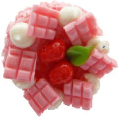 Pink Waffle And Strawberry Cake Ring