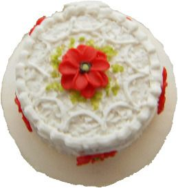 Red Ribbon Cake Ring
