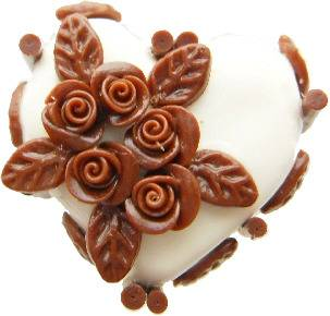 White Chocolate Flower Cake Ring