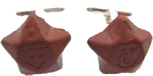 Chocolate Star Cufflinks