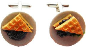 Blueberry Pie Cufflinks