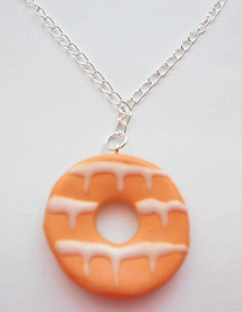 Large Orange Ring Necklace