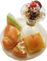 Mixed Savory Snacks And Chocolate Icecream Sundae Ring