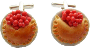 Strawberry Pie Cufflinks