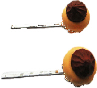 Chocolate Top Mini Cake Hair Grips