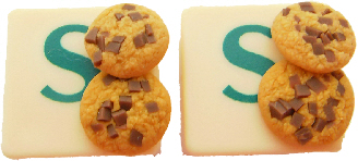 Chocolate Chip Cookie Scrabble Cufflinks