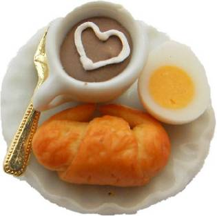 Tea, Egg And Croissant Breakfast Ring