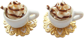Chocolate And Waffle Ice Cream Cufflinks