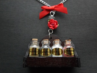 Spice Rack Bow Necklace