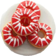 Red Doughnuts On A Plate Ring