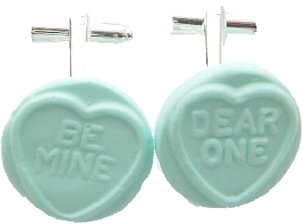 Love Heart Cufflinks - Choose Your Message