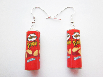 Original Ready Salted Pringlers Can Earrings