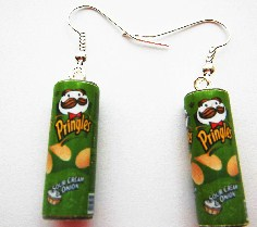 Sour Cream And Onion Pringlers Can Earrings