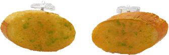 Garlic Bread Stud Earrings