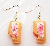 Half-Eaten Strawberry Pop Tart Earrings