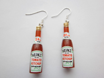 Heinz Tomato Ketcup Earrings