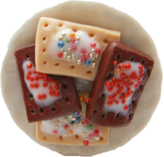 Strawberry And Chocolate Pop Tarts On A Plate Ring