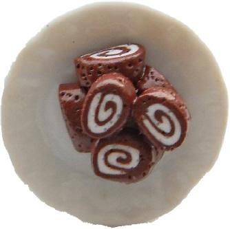 Chocolate Swiss Roll Ring