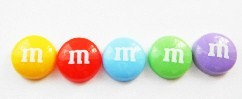m&m mixed coloured selection