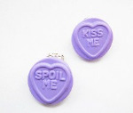 Love Heart Sweet Clip On Earrings