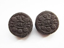 Original Oreo Biscuit Clip On Earrings
