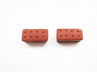 Mini Bourbon Chocolate Stud Earrings