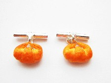 Mini Crossiant Bread Cufflinks