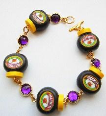 marmite amethyst gemstone bracelet
