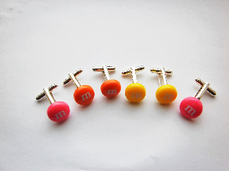 spring colour m&m cufflinks