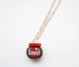 Rare Cupboard Food Bovril Jar Necklace