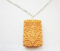 Original Custard Cream Biscuit Necklace