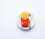 French Fries On A Plate Ring