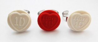 1D One Direction Love heart Ring