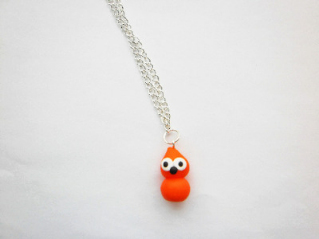 Zingy Mascot Flame Silver Necklace