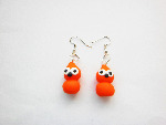 Chic Zingy Mascot Silver Earrings