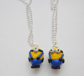Despicable Me Minion Silver Plated necklace