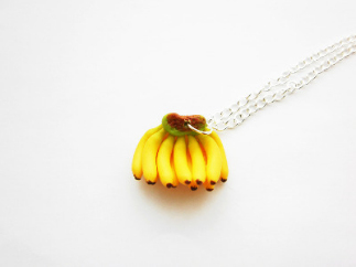 Fun Banana Fruit Necklace
