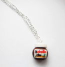 Small Nutella Pendant Silver Necklace