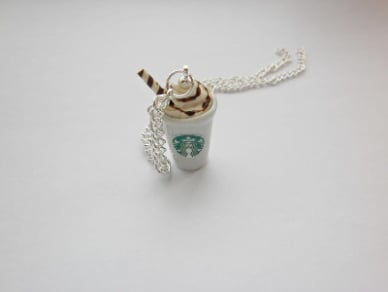 Chocolate Mini Milkshake Drink Necklace