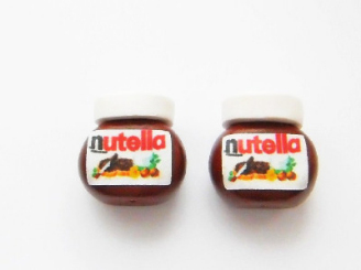 Nutella Jar Stud Earrings