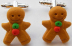 Kitsch Gingerbread Man Cufflinks