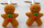 Kitsch Gingerbread Man Cufflinks