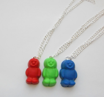 Jelly Baby Colour Pendant Necklace