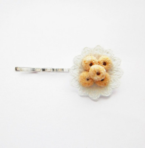 Sugary Doughnut Filigree Hair Clip/Pin.