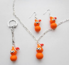 Zingy Santa Hat Jewellery Gift Set.