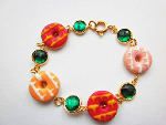 Design Your Own Bracelet :Party Ring Biscuit Gemstone Bracelet