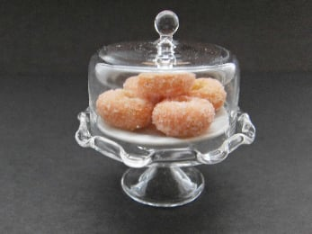 Sugary Donuts In A Glass Dome Ring