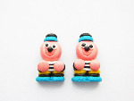 Bertie Basset Liquorice Sweet Stud Earrings