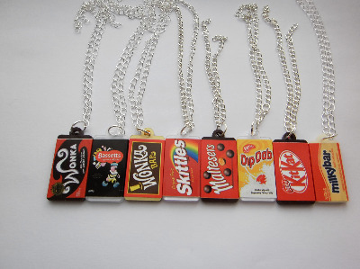 Kitsch Rare Chocolate Candy Bar Necklace